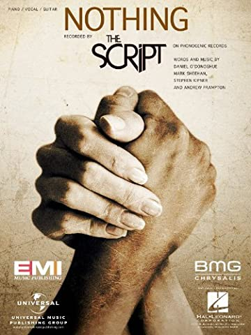 The Script - Nothing - Piano/Vocal Sheet Music (The Script Sheet Music)