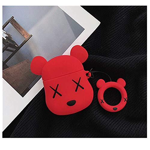 Monai KAWS AirPods Case Violent Bear Headphones Anti-Fall Protective Silicone Scratch Proof and Drop Proof Cover Case…