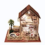 Rylai 3D Puzzles Wooden Handmade Miniature Dollhouse DIY Kit w/ Light -Paris Apartment Series Dollhouses Accessories Dolls Houses with Furniture & LED & Music Box Best Xmas Gift for Women and Girls