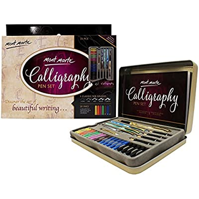 mont-marte-calligraphy-set-33-piece
