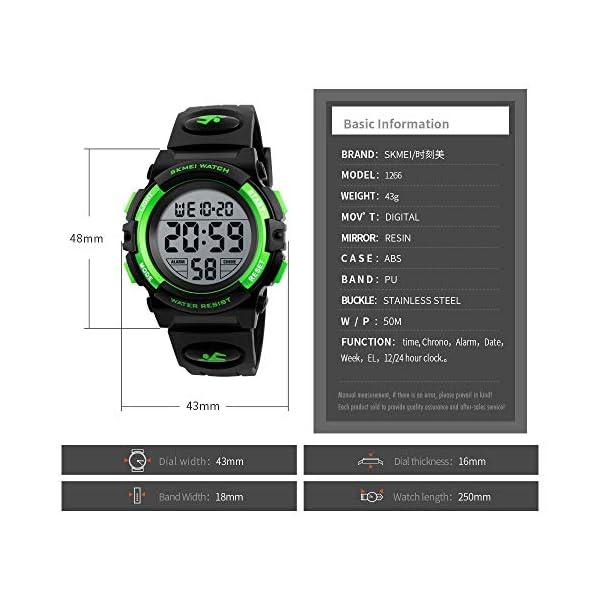 Kids Watch, Boys Sports Digital Waterproof Led Watches with Alarm Wrist Watches for Boy Girls Children Watch A