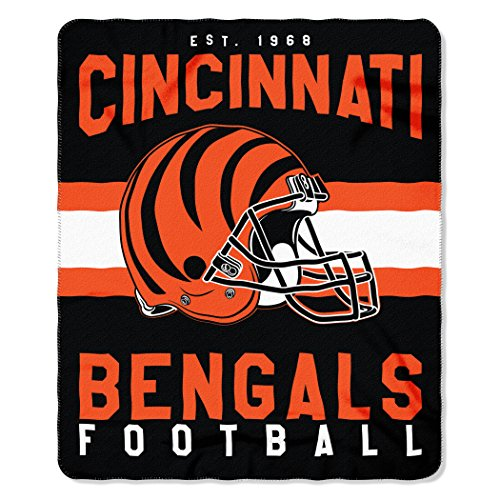 The Northwest Company NFL Cincinnati Bengals Singular 50-inch by 60-inch Printed Fleece Throw