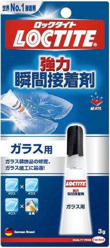ロックタイト 強力瞬間接着剤 ガラス用 3g LCR-003