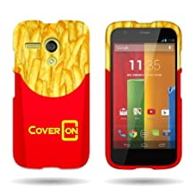 CoverON® for Motorola Moto G (1st Gen, 2014) Hard Design Case [Snap Fit Series] Slim Polycarbonate Back Phone Cover - (French Fries)