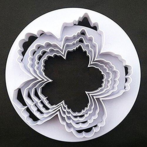(SPHTOEO Bigger Peony Petals Flower Cutter, Set of 4pcs Gum Paste Flowers Cake Decorating Cutter Fondant Mold Sugar Tools)