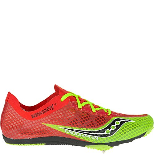 Saucony Men's Endorphin Track Spike Racing Shoe, Red/Black/Citron, 11 M US (Track Spikes Men Shoes)