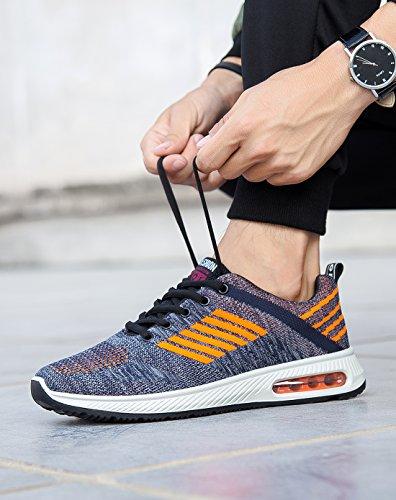 bb18ef0ddaa Sport Fitness Herr Shoes Gym Kvinnor Orange Blue BRKVALIT Sneakers Running  Träning Walking w1IaO1qxF