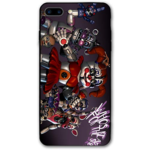 Five Nights at Freddy's Anti-Scratch Bumper Soft PC Back Protection Case Shockproof Slim Fit Cover for iPhone 8 Plus/iPhone 7 Plus