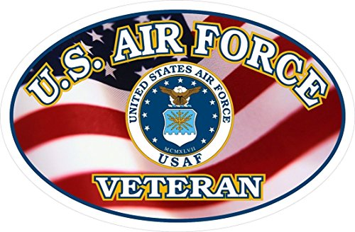 1 Set Lordly Fashionable U.S. Air Force Veteran Flag Stickers Sign Wall Car Decal Window Size 5
