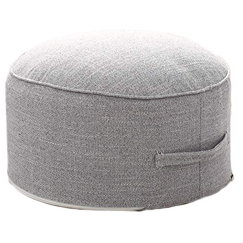 Pillows Footstools - idee-home Floor Sitting Cushion Pillow Footstool - Janpanese Round Seating Sofa Pouf Foot Leg Rest Step Stool Pillow for Kids Adults Diameter 16