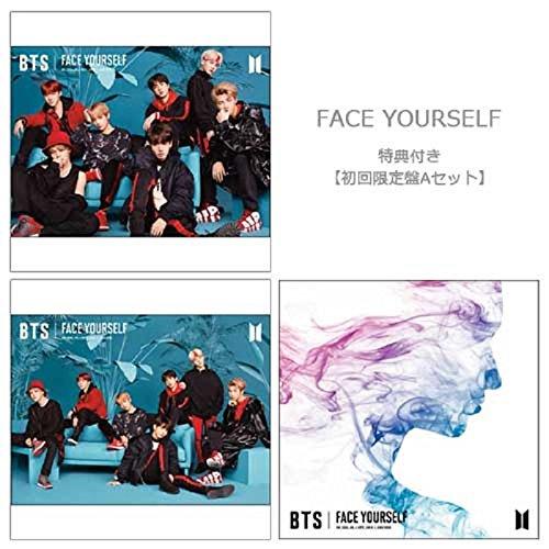 BTS (방탄소년단) FACE YOURSELF(첫번째 앨범A세트아쥬반 VANT)Re:A+C+통상)(Blu-ray부)【특전아쥬반 VANT)Re:A4클리어 파일 도안C】 CD+Blu-ray