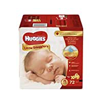 Huggies Little Snugglers Diapers, Newborn, 72 Count (Packaging may vary)