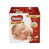 Health & Personal Care : Huggies Little Snugglers Diapers - Newborn - 72 ct