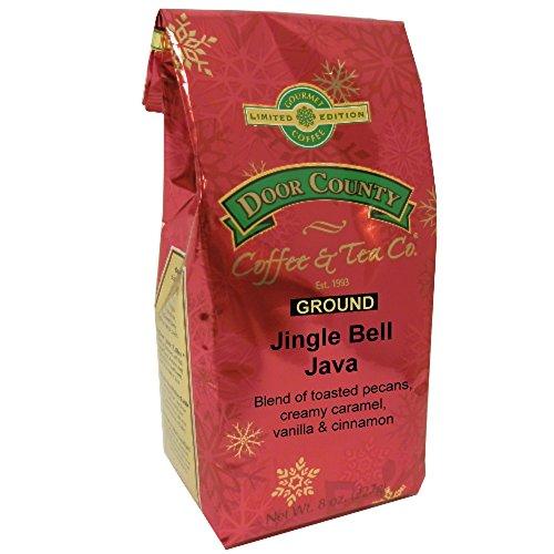 Door County Coffee Holiday Seasonal Blend, Jingle Bell Java, Ground, 8oz Bag