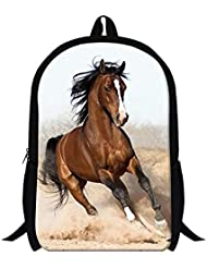 GIVE ME BAG Generic Stylish Horse Backpack for Adults Childrens School Bags