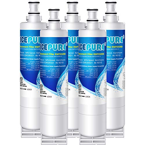 ICEPURE Whirlpool 4396508; 4392857 4396547; 46-9010 9008 Compatible Water Filter 5 Pack (Ksc24c8eyy02 Water Filter)