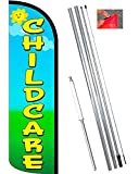 Cheap Vista Flags Childcare Windless Feather Banner Flag Kit (Flag, Pole, Ground Mt)