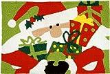 Jellybean Santa Claus with Presents Indoor Outdoor Accent Rug