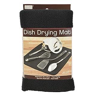 Kitchen Basics 429500 Microfiber Dish Drying Mat, Black