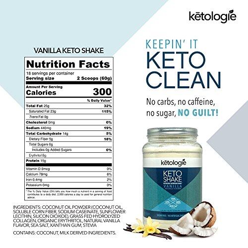 Ketologie Vanilla Keto Protein Shake   Best Ketogenic Nutrit