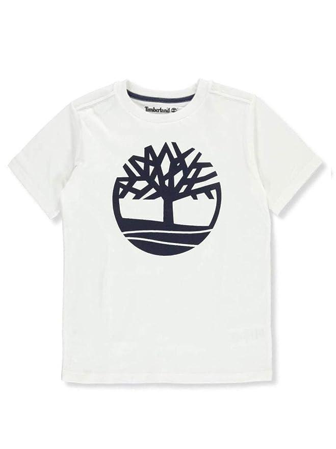 c98a7740 Amazon.com: Timberland Big Boy's Short Sleeve Logo Crew Neck T-Shirt:  Clothing