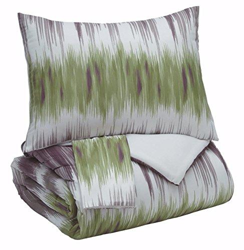 Signature Design by Ashley Q366003K Agustus 3 Piece King Comforter Set, -