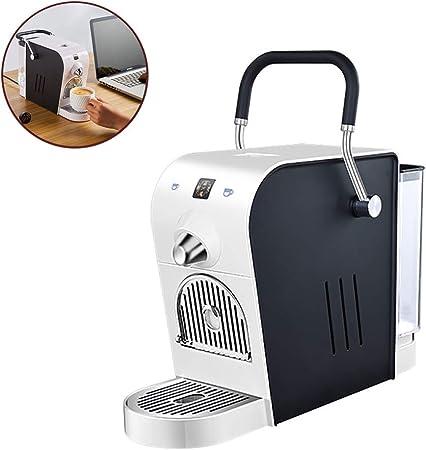 Máquina de café en cápsulas Cafetera personal Limpieza automática y apagado 20bar 5-10 tazas 0.8l Un botón para Cappuccino Latte Espresso Cafetera negra: Amazon.es: Hogar
