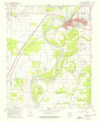 YellowMaps Newport AR topo map, 1:24000 Scale, 7.5 X 7.5 Minute, Historical, 1962, Updated 1976, 26.9 x 22 in - Polypropylene