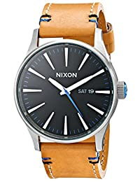 Nixon Men's A1051602 Sentry Leather Watch