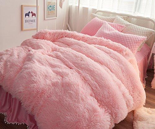 Ceruleanhome 1pc 100% Velvet Flannel Duvet Cover, Solid Color, No Inside Filler, Zipper Close (Queen 1pc Duvet Cover, ()