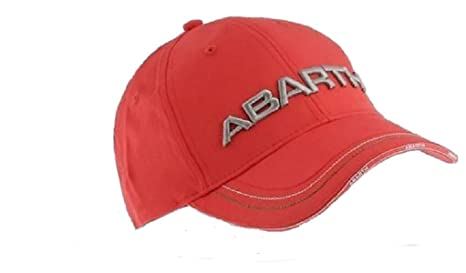 Amazon.com  ABARTH Rally Fiat 3D Embroidered Logo Red Cap  Sports ... c61a0aeda72d