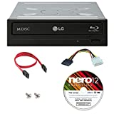 LG 14x WH14NS40 Internal Blu-ray Writer Bundle with Nero Essentials Burning Software and Cable Accessories (Supports CD DVD BD BDXL MDISC)