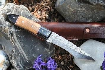 Cuchillo de acero de damasco japonés tanto cuchillo japonés ...