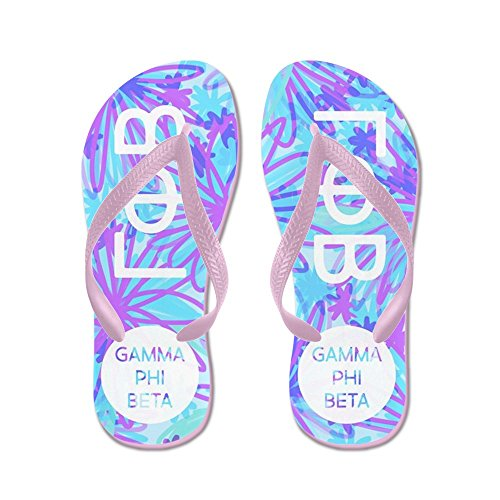 Cafepress Gamma Phi Beta Purple - Chanclas, Sandalias Thong Divertidas, Sandalias De Playa Rosa