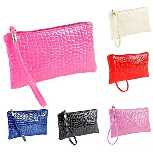 Clutch Crocodile Leather Clutch Handbag Coin Leather Bag Black Women Ansenesna Coin Women Ansenesna Bag Crocodile Handbag pSqPzA