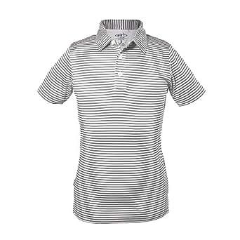 Garb Boys Junior Carson Striped Golf Performance Polo Small (5-6) (Small)
