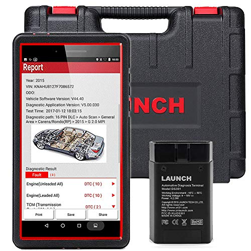 LAUNCH X431 PRO Mini Bi-Directional Diagnostic Scan Tool Full System Automotive OBD2 Scanner Code Reader IMMO Injector ECU Coding TPMS ABS Bleeding WiFi/Bluetooth - Free Update ()