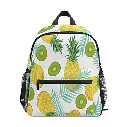 Pineapple Kiwi Fruit Mini Kids All-in-One Pre-School Backpacks for Kindergarten Toddler Boy -