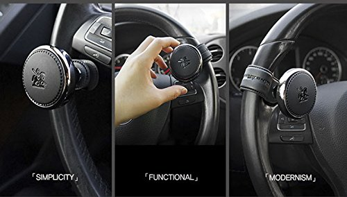 Mounted on all models Luxury design Vehicle White Modern Car Steering Wheel Suicide Spinner Accessory Knob - Power Handle Easy Installs And Uninstalls Ring Silicone Vehicle Steering Booster