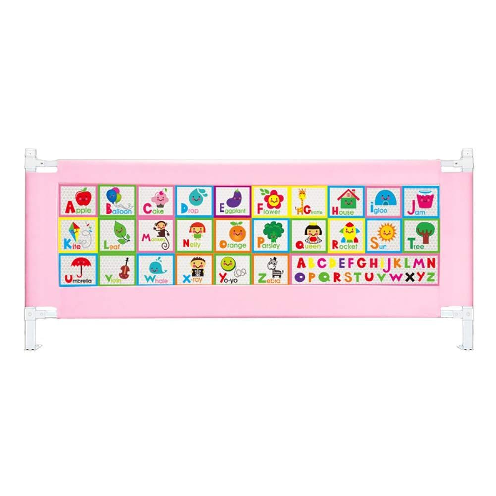 ベッドフェンス, ポータブル安全ベビーベッドレール、垂直昇降ベッドレールベビーベッドガード、2色オプション - 63cm高 (色 : Pink, サイズ さいず : 180cm) 180cm Pink B07KCRNB5V