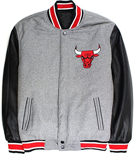 JH Designs Reversible NBA Chicago Bulls Melton Varsity Ja...