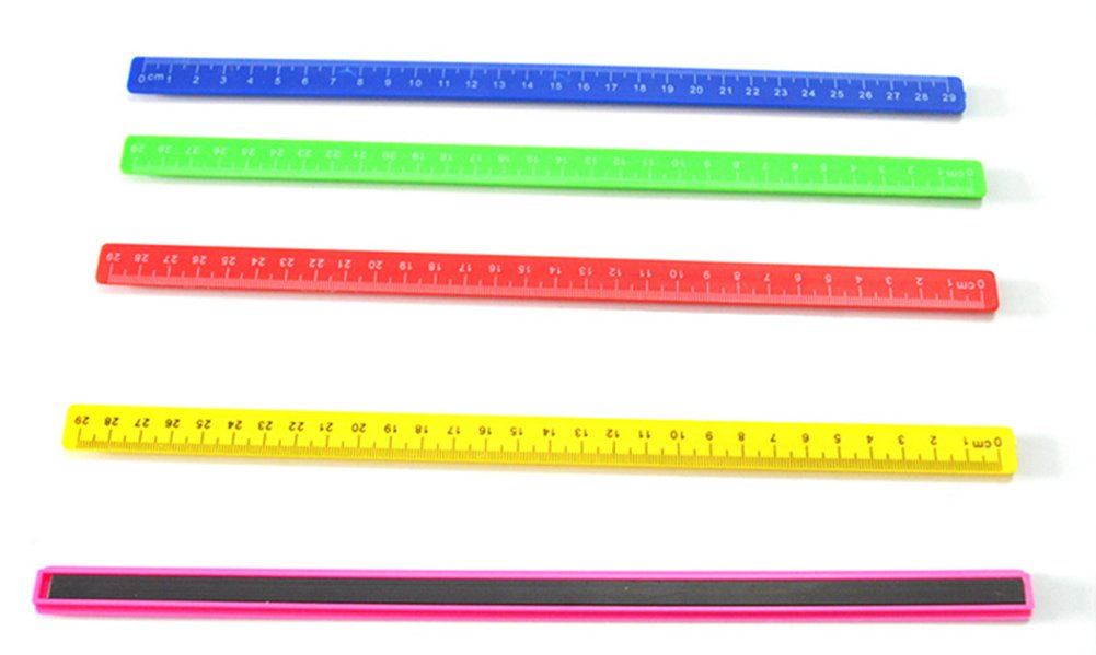 Taloyer Plastic Magnetic Ruler Drawing Measuring Tools for Kids School Supplies