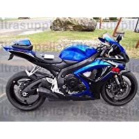 Gloss Black w/ Blue Fairing Injection for 2006-2007 Suzuki GSXR GSX-R 600 750
