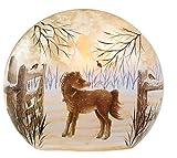Giant Lighted Round Glass Animals - Pony 10X9X3