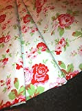 Cath Kidston ROSALI 100% Cotton Fabric Material - WHITE ROSE - 150cm wide (sold by the metre) by cath kidston rosali