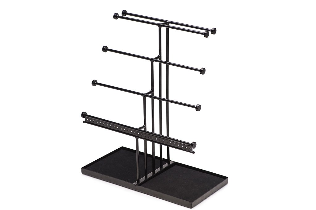 Castlencia Black Velvet Tray Extra Large 5 Tier Tabletop Bracelet, Necklace, Earring Display Jewelry Tree – Jewelry Organizer Holder - Perfect Gift