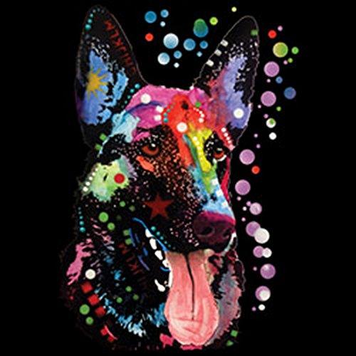 Pop Art Canvas ::: German Shepherd ::: peppige Umhängtasche mit Art Style Hunde Motiv