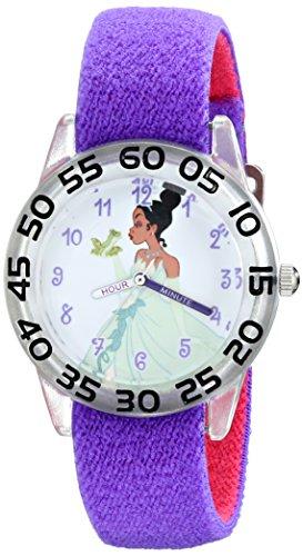 Disney Kids' W001951 Tiana Analog Display Analog Quartz Purple Watch