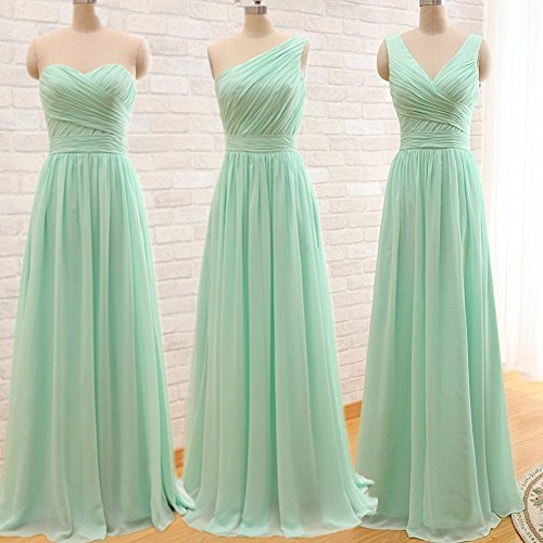 Gowns Bridesmaid Prom Chiffon Evening Ever Dresses Girl Red Long 3 Women's qFAO8