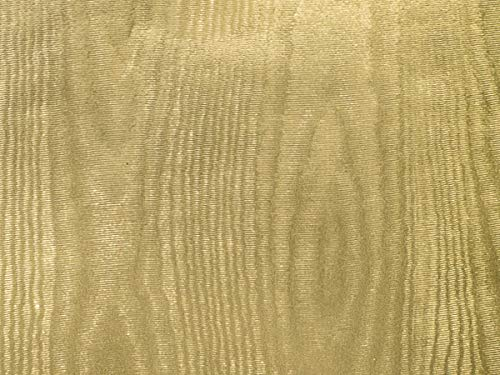 "Metallic Foil - Pale Gold Moire Gift Wrap 24"" x417"